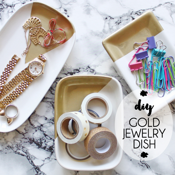Diy Gold Modern Jewelry Dish Beprismatic