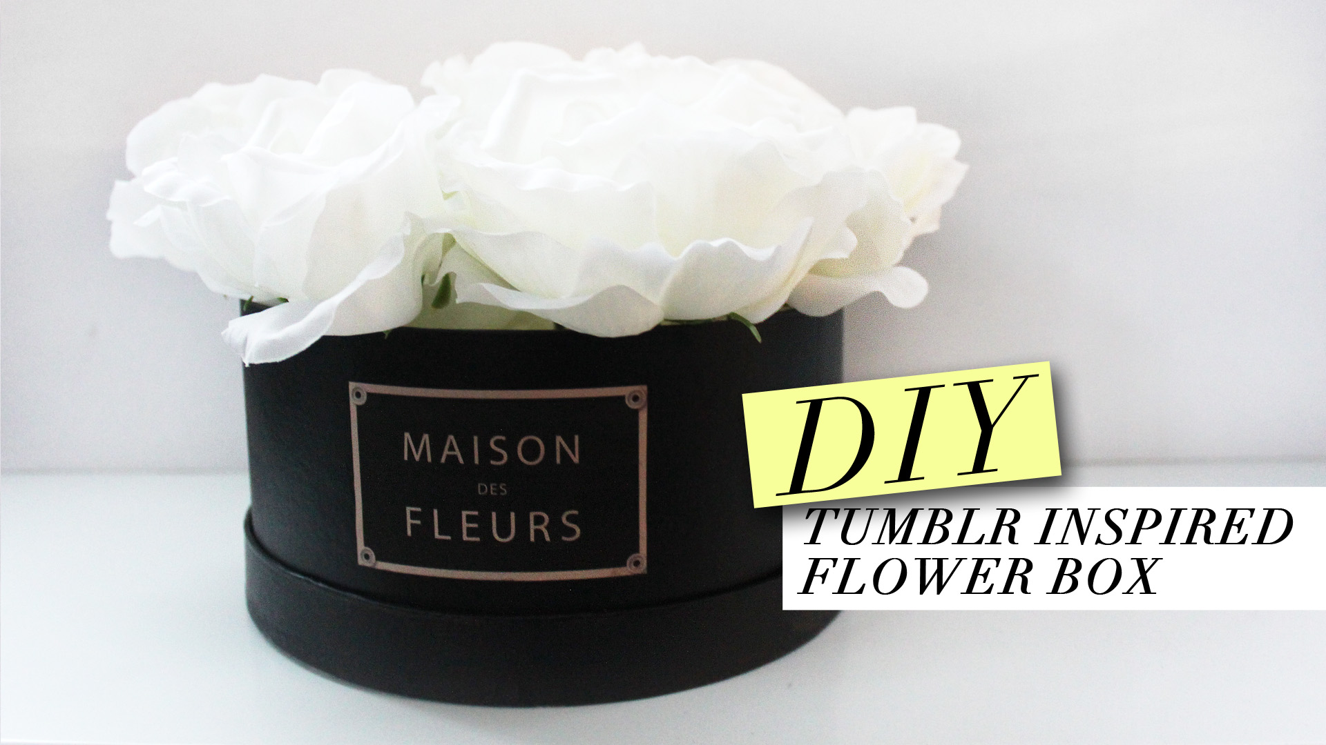 DIY | TUMBLR INSPIRED FLOWER BOX