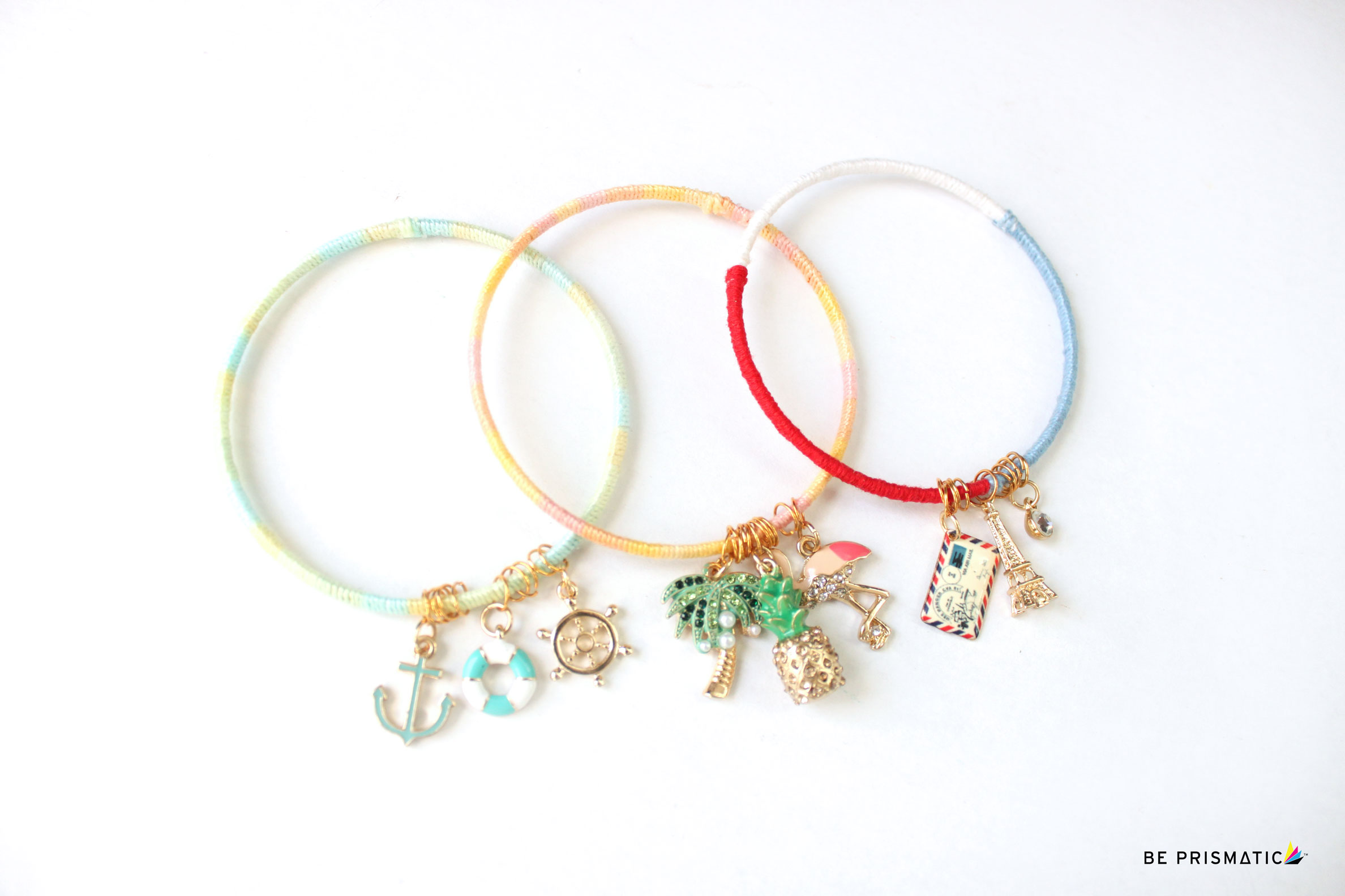 DIY | COLORFUL CHARM BRACELETS